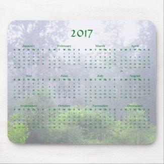 Foggy Pond 2017 Nature Calendar Mousepad