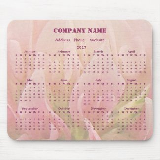 Floral Business Company Promotional 2017 Calendar Mouse Pad