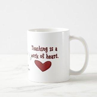 Teacher Appreciation Heart Mug