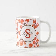 Floral Red Daisies Coffee Mug