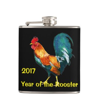 Year of the Rooster 2017 Chinese New Year Flask