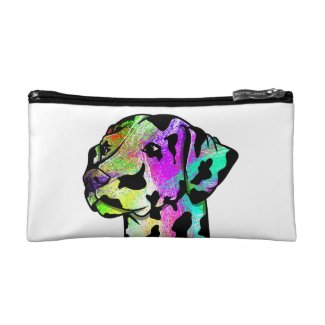 Dalmatian Dog Head Cosmetic Bag