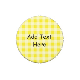 Yellow Gingham Candy Tins Party Favors