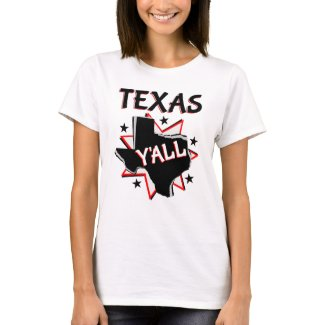 Texas State Pride Y'all T-Shirt