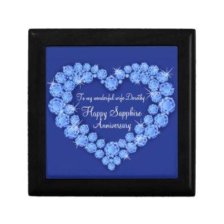 Sapphire anniversary 45 years heart wife gift box