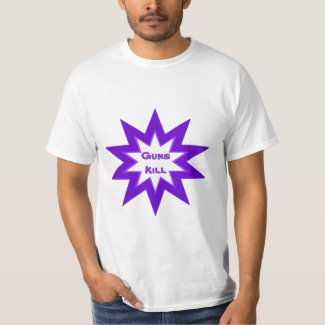 Guns Kill Purple Star Shirt