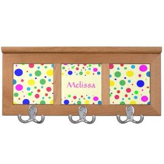 Cheerful Color Polka Dots Coat Rack