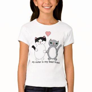 Sister Best Friend Cats T-Shirt