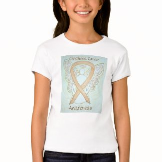 Childhood Cancer Awareness Ribbon Angel Art Shirt