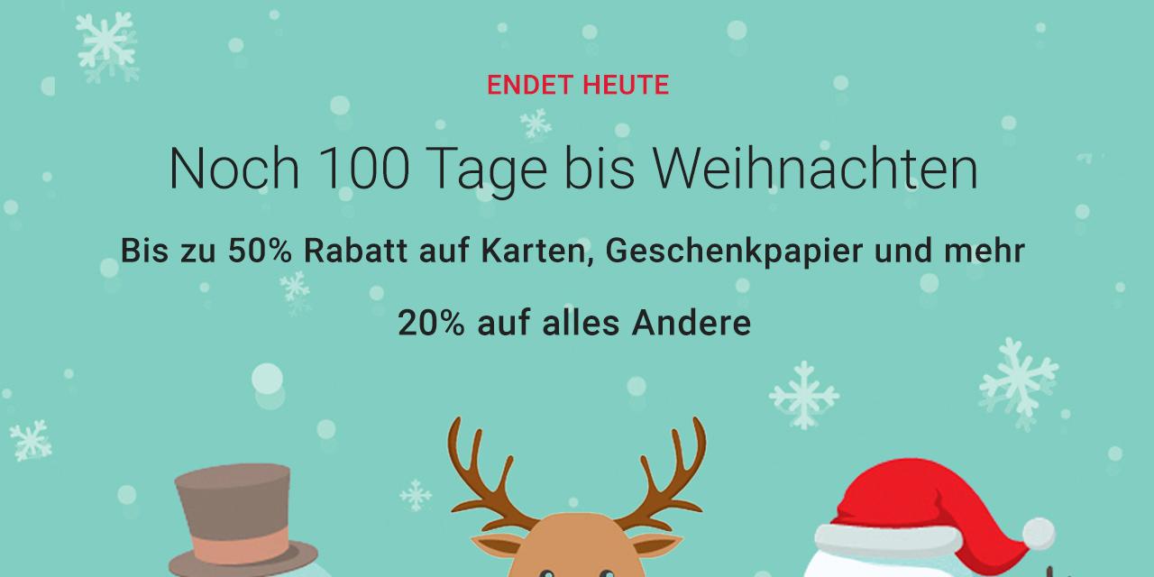 Tage Bis Weihnachten.Verlangert Nur Noch 100 Tage Bis Weihnachten Deal Held De