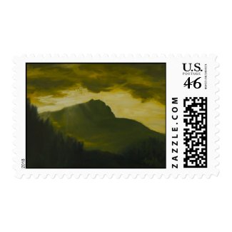 0075-Sainte Victoire Sunrise stamp