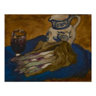 0075-Still Life with Asparagus print