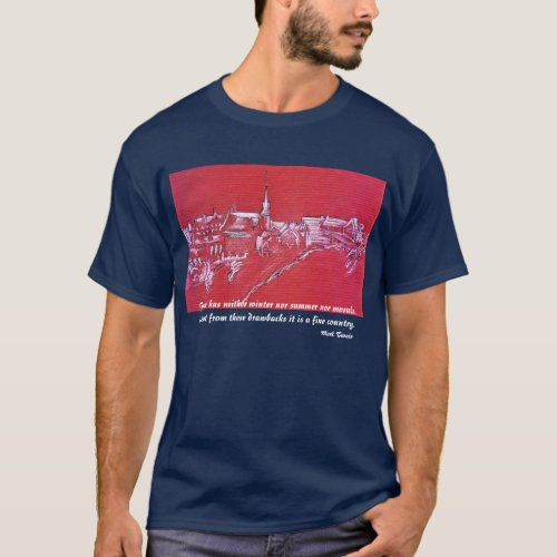 0087-French village in Winter shirt