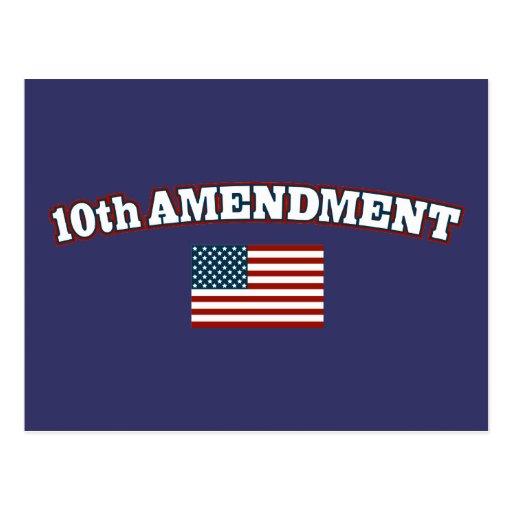 10th Amendment American Flag Postcard | Zazzle