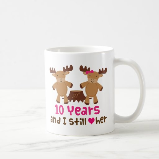 10th Anniversary Gift Ideas For Him: 10th Anniversary Gift For Him Classic White Coffee Mug