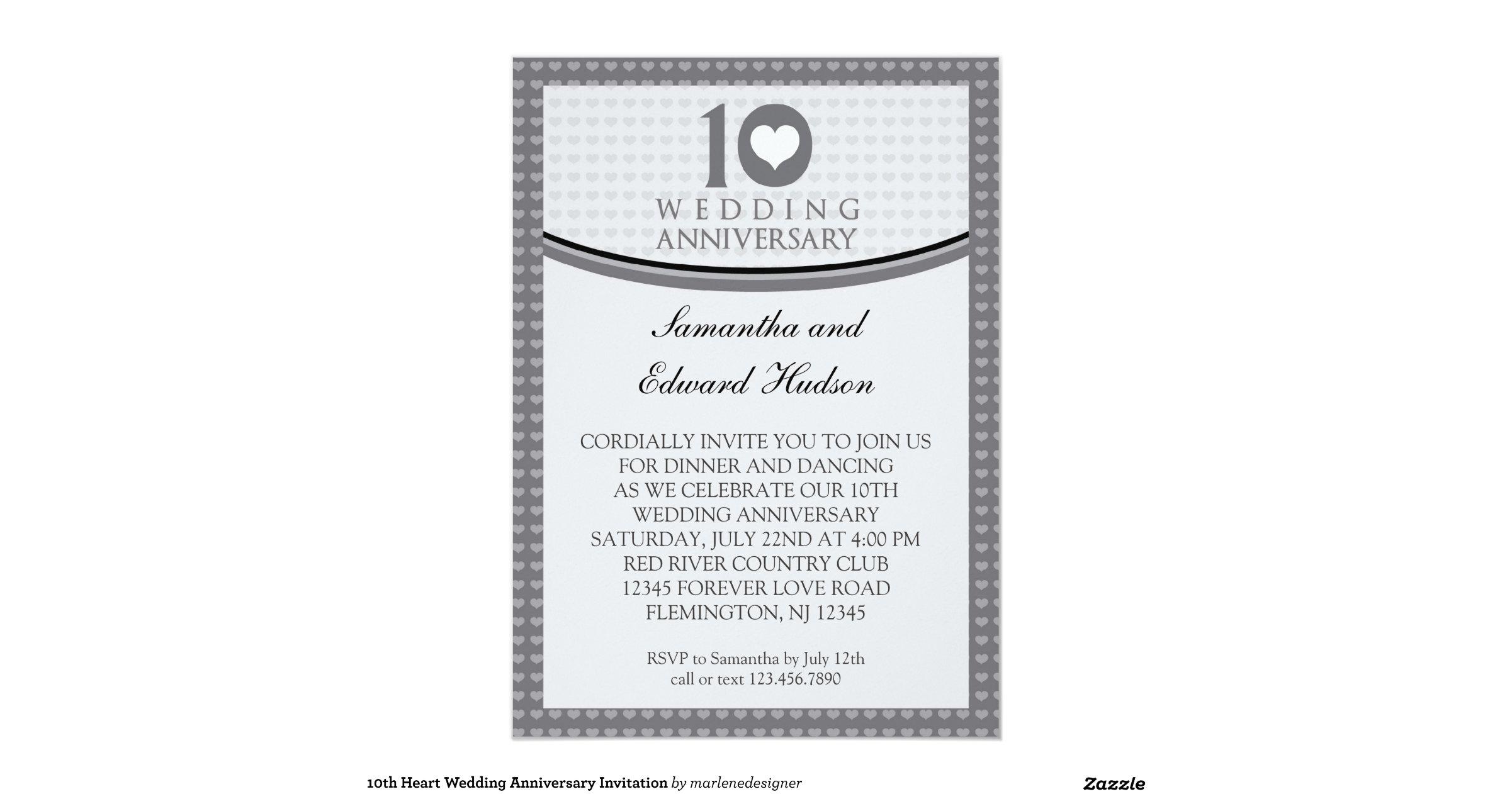10th Wedding Anniversary Invitations: 10th_heart_wedding_anniversary_invitation