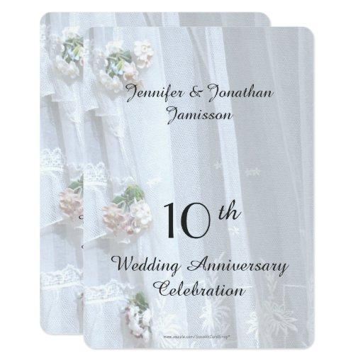 10th Wedding Anniversary Party Ideas: 10th Wedding Anniversary Party, Vintage Lace Card