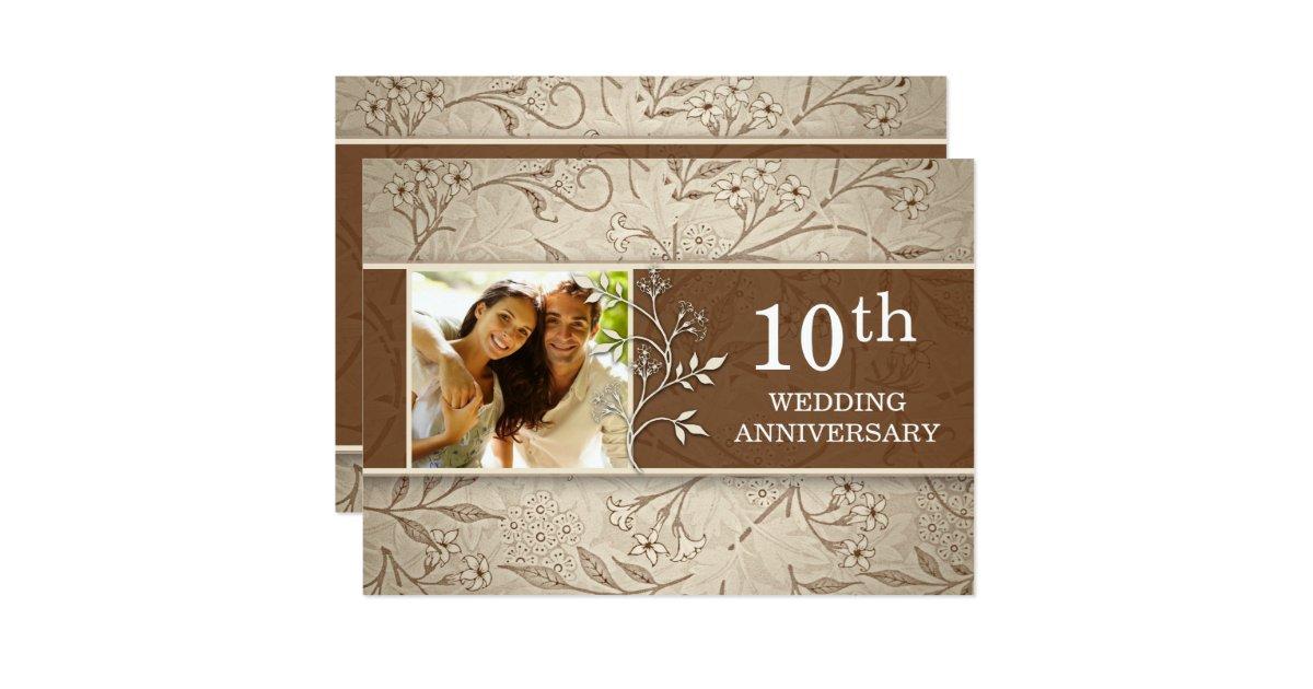 10th wedding anniversary photo invitations   Zazzle