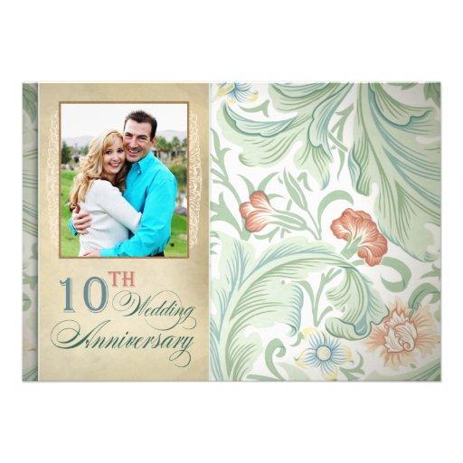 "10th Wedding Anniversary Invitations: 10th Wedding Anniversary Photo Invitations 5"" X 7"