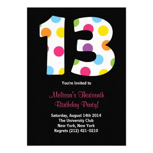 Personalized 13th Birthday Invitations Custominvitations4u Com