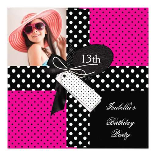 13th Birthday Party Teenager Girls 5.25x5.25 Square Paper