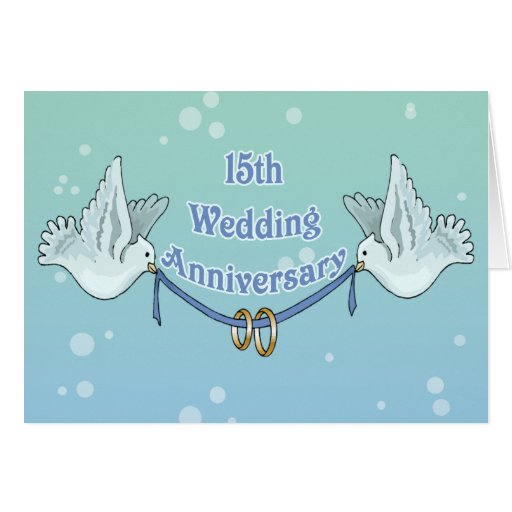 What Gift For 15th Wedding Anniversary: 15th Wedding Anniversary Gifts Card
