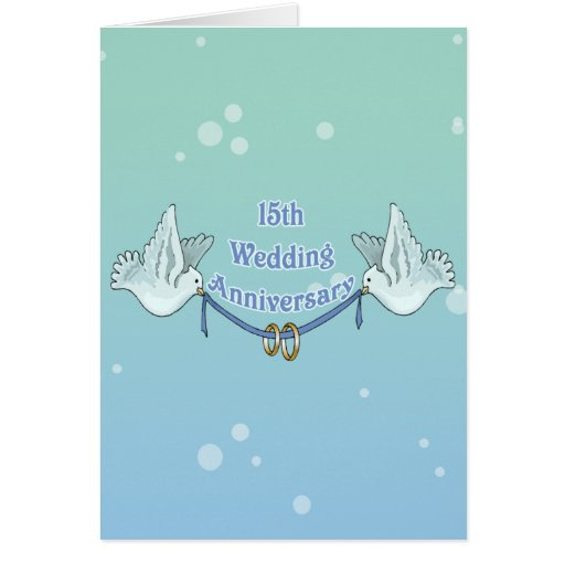 15 Wedding Anniversary Gifts: 15th Wedding Anniversary Gifts Card