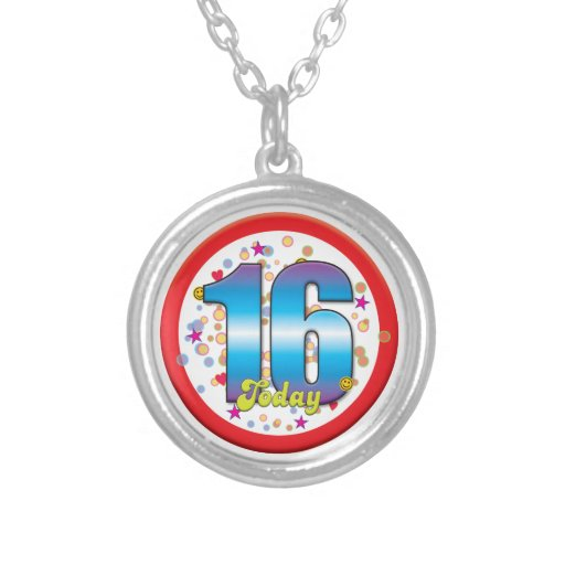 16th Birthday Today V2 Custom Necklace