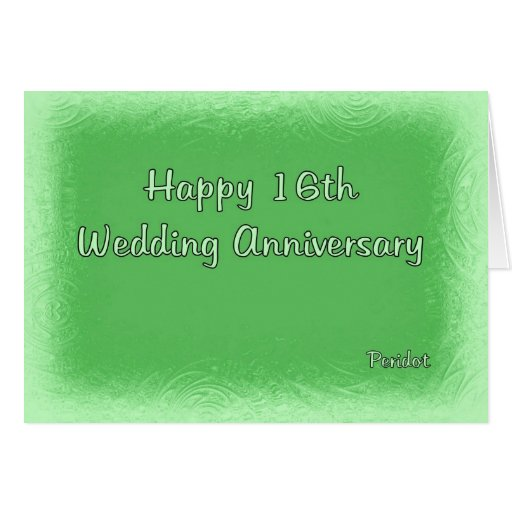 What Is The 16th Wedding Anniversary Gift: 16th Wedding Anniversary Card