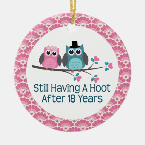 Gifts For 18th Wedding Anniversary: 18th Anniversary Owl Wedding Anniversaries Gift Double