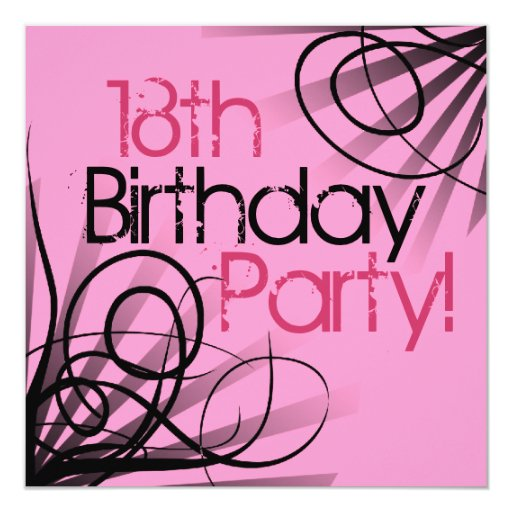 18th Birthday Ideas For The Perfect Party: 18th Birthday Party Invitations
