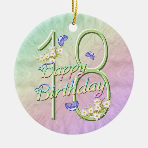 18th Birthday Rainbow Keepsake Ornament