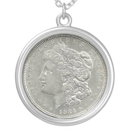 1921 Morgan Silver Dollar Necklace Zazzle