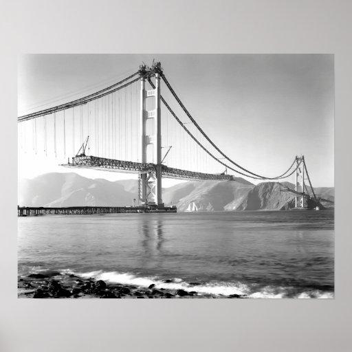 1937 Golden Gate Bridge Construction Poster Zazzle