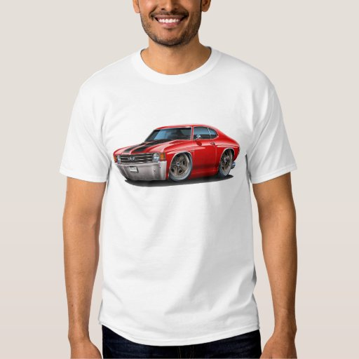 Ford Mustang Racing Stripe Design Blue Men S Size Tee: 1971-72 Chevelle Red-Black Car T-Shirt