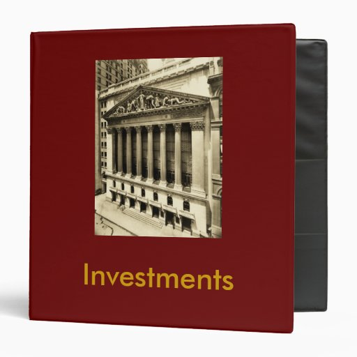 """1.5"""" 3 Ring Binder For Investments"""