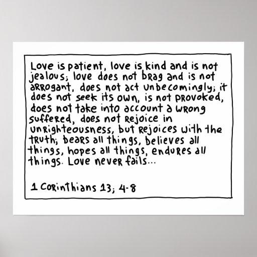 1 Corinthians 13 4-8 Print