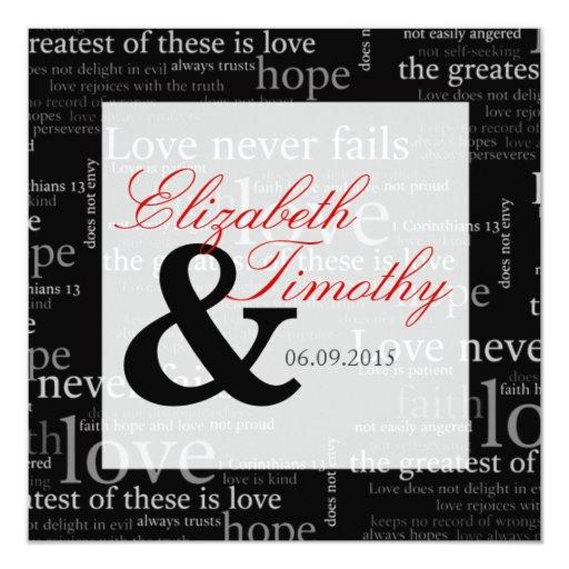 1 Corinthians 13 Wedding Invitations