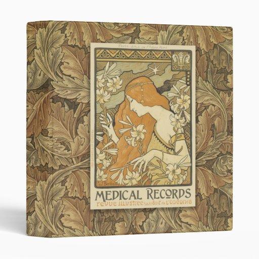 1 Inch Medical Records Art Nouveau Binder