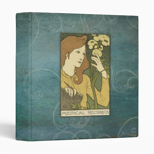 1 Inch Medical Records Avery Binder Art Nouveau