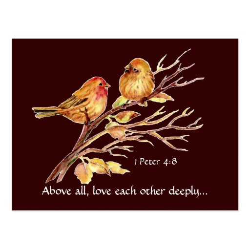 Love Each Other Deeply: 1 Peter 4:8 Love Each Other Deeply Scripture Birds