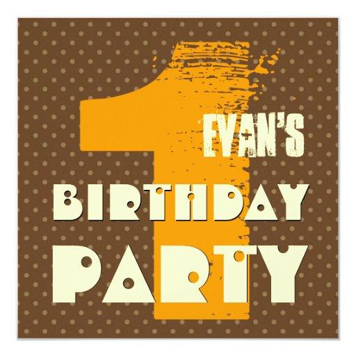 1st Birthday Party 1 Year Old Polka Dot Design Custom