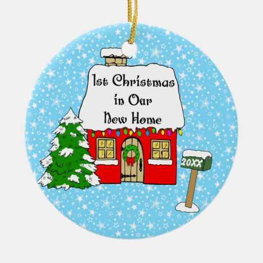 7 Apps To Use While Designing And Building Your New Home: 1st Christmas In Our New Home Ceramic Ornament