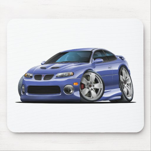 Grey Car: 2004-06 Pontiac GTO Blue/Grey Car Mouse Pad
