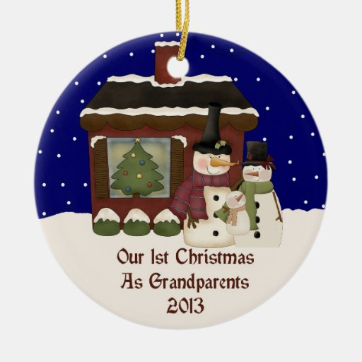 2013 Our 1st Christmas As Grandparents Double-Sided ...