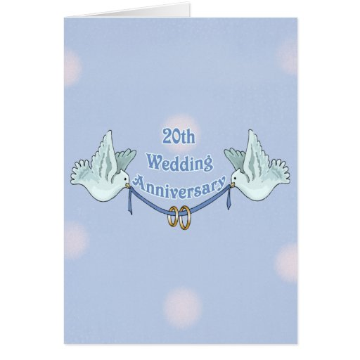 What Is The Gift For 20th Wedding Anniversary: 20th Wedding Anniversary Card
