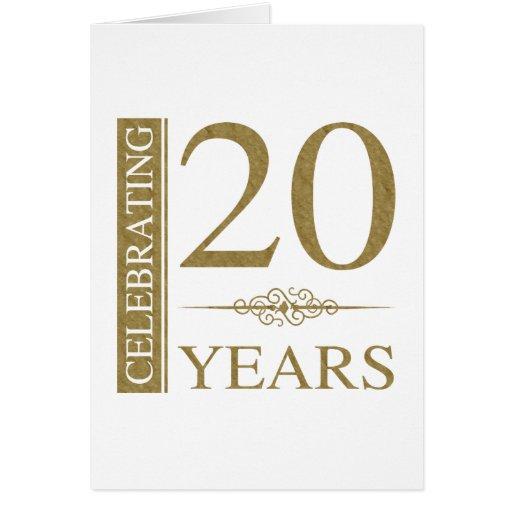 20 Wedding Anniversary Ideas: 20th Wedding Anniversary Card