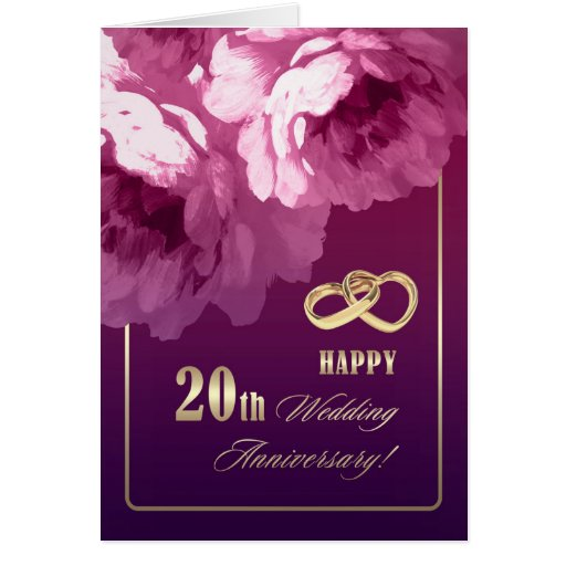 Quotes About 20 Years Of Marriage: 20th Wedding Anniversary Greeting Cards