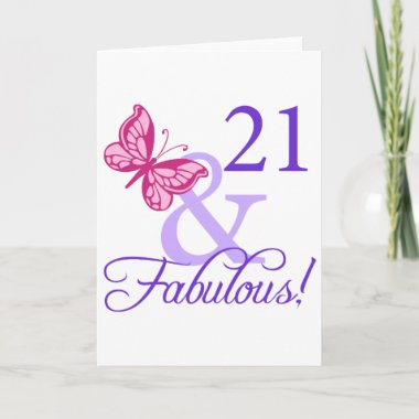 21 And Fabulous Birthday cards