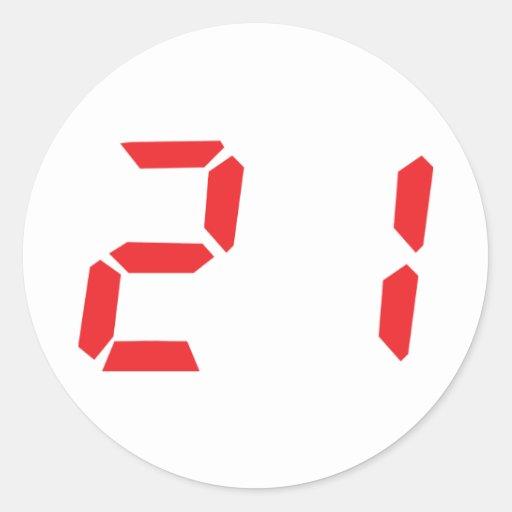 21 twenty-one red alar...